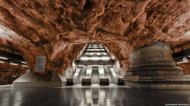 El metro de Estocolmo: arte bajo tierra