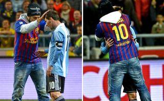 Lionel Messi fue besado en la cabeza por hincha en triunfo de Argentina