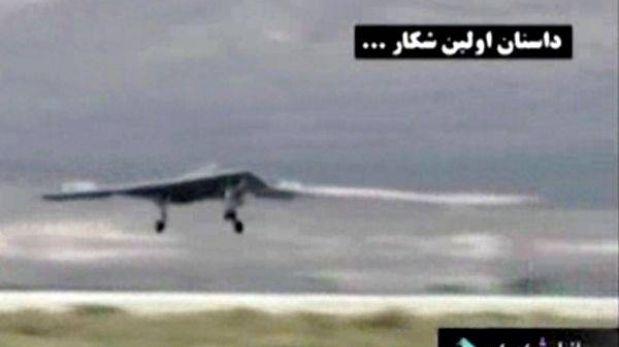 TV iraní mostró imágenes de avión no tripulado de EE.UU. interceptado