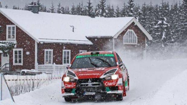 Nicolás Fuchs sumó sus primeros puntos en el Mundial de Rally
