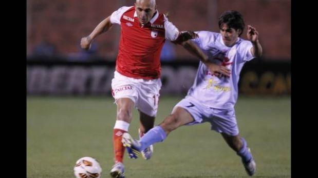 Real Garcilaso solo pudo empatar 1-1 ante Santa Fe en su debut en la Copa Libertadores