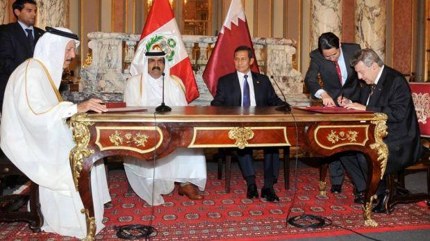 FOTOS: el encuentro del presidente Ollanta Humala con el emir de Qatar en Palacio de Gobierno