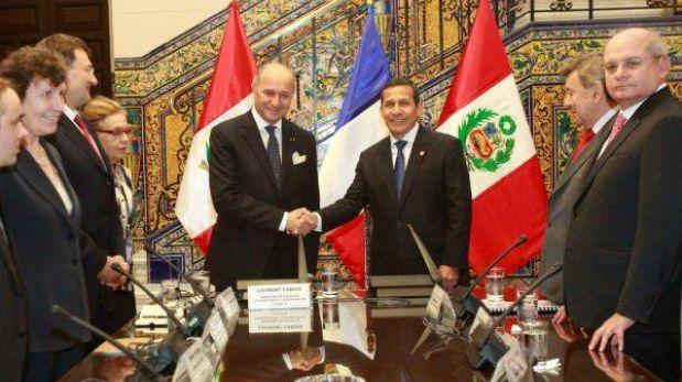 Ollanta Humala recibió al canciller de Francia en Palacio de Gobierno