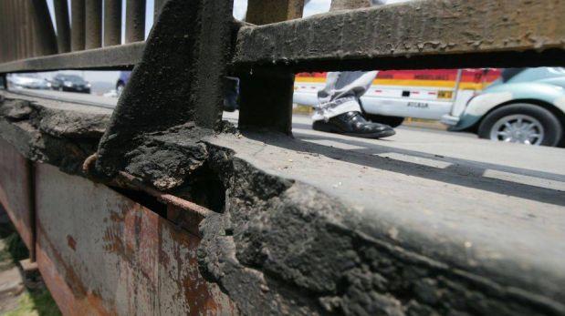 FOTOS: puentes que cruzan el río Rímac lucen abandonados