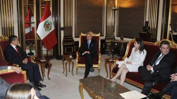 Presidente Humala se reunió con ministros de Ecuador en Palacio de Gobierno