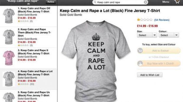 Amazon tuvo que retirar camisetas que promovían la violación