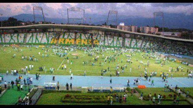 Violencia en partido del fútbol colombiano dejó 21 heridos y 150 detenidos