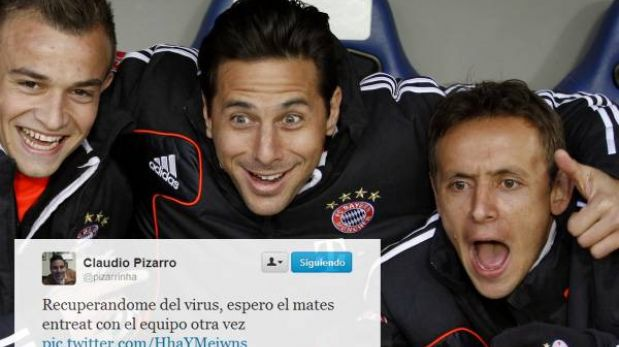@pizarrinha: Claudio Pizarro estrenó su cuenta de Twitter