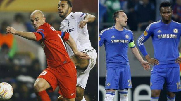 Europa League: Tottenham goleó 3-0 al Inter y Chelsea perdió 1-0 con Steaua