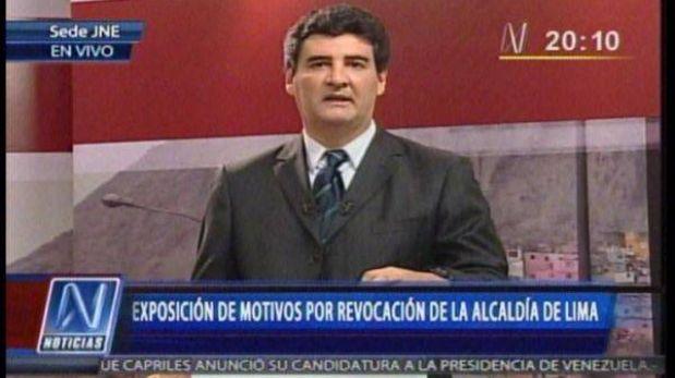 """Eduardo Zegarra: """"¿Por qué no pueden esperar a las elecciones del 2014?"""""""