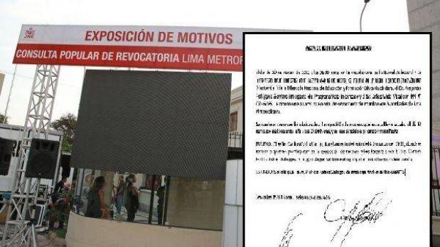 Promotor de revocación ratificó a expositores que no asistieron a debate
