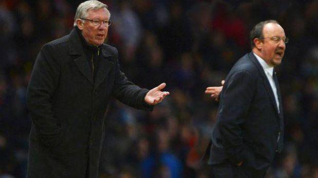 Polémica porque Ferguson y Benítez no se saludaron en el Manchester-Chelsea