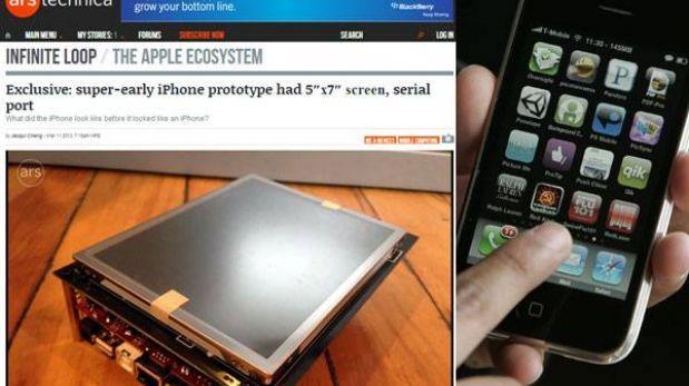 FOTO: el prototipo del primer iPhone era casi del tamaño de una tableta