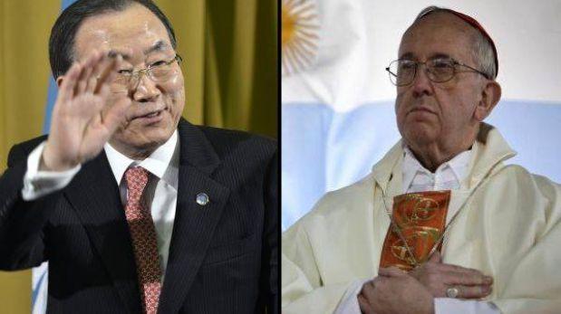 """ONU saluda al papa Francisco: """"Compartimos los mismos objetivos"""""""