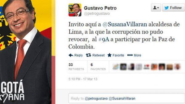 Susana Villarán fue invitada por el alcalde de Bogotá, quien también enfrenta una revocación