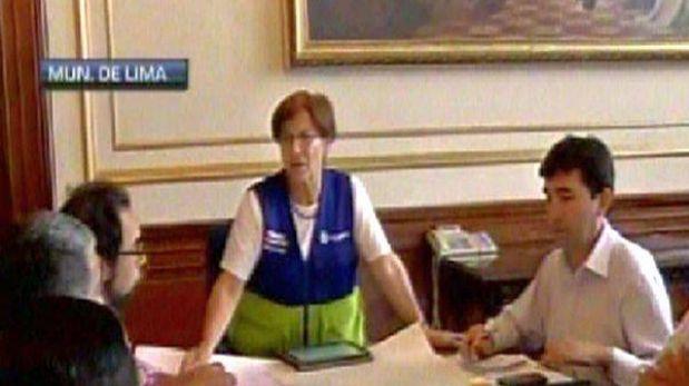 Susana Villarán retomó actividades al frente de la Municipalidad de Lima
