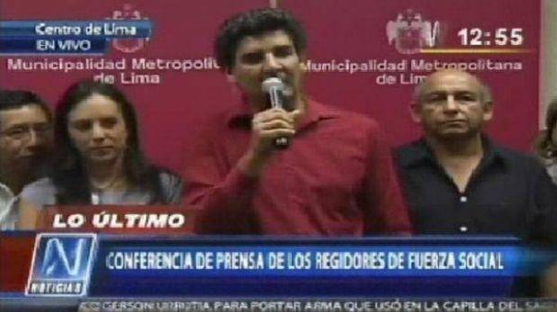 """Nueva elección en Lima sería """"absurda y no resuelve nada"""", según Fuerza Social"""