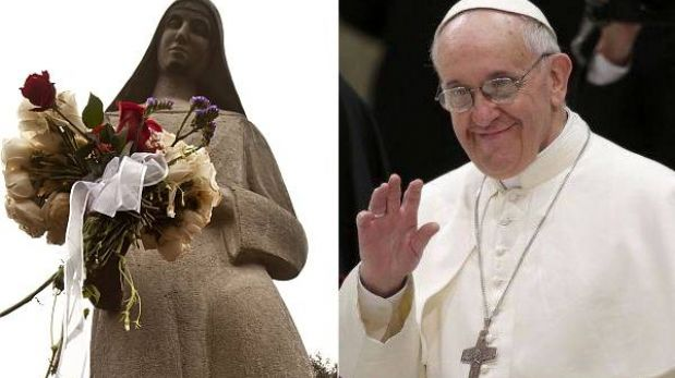 Papa Francisco recibió un lienzo de Santa Rosa de manos del canciller peruano
