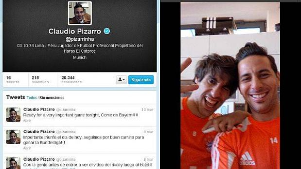Claudio Pizarro y la historia de cómo creó su cuenta de Twitter