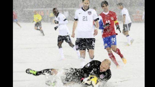 Costa Rica culpa a la nieve y pide a la FIFA repetir duelo ante EE.UU.