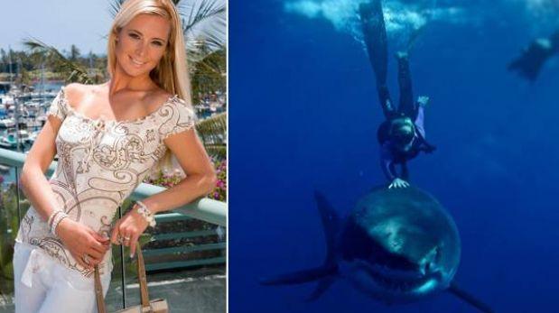 La increíble historia de Ocean Ramsey, la modelo que nada con tiburones