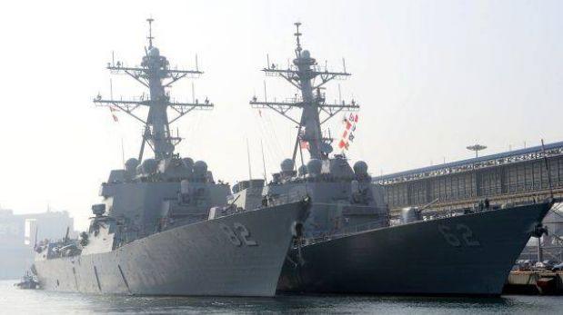 EE.UU. envió un destructor cerca a las costas de Corea del Norte