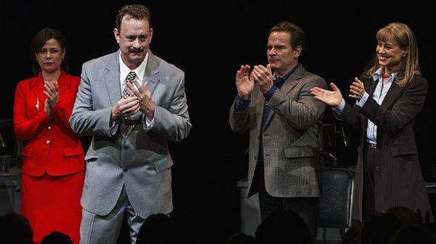 Tom Hanks recibió elogios en su debut en Broadway