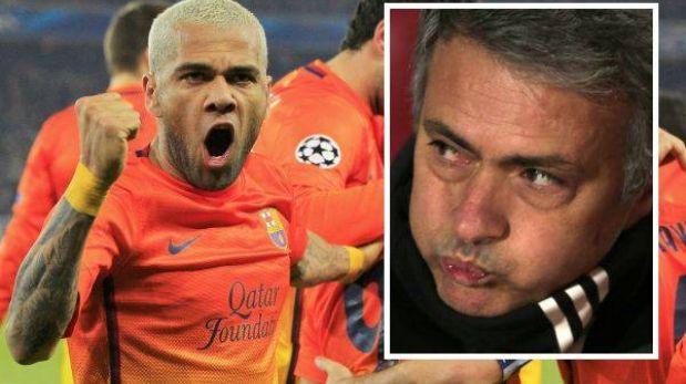 Dani Alves acusó a José Mourinho de condicionar a los árbitros