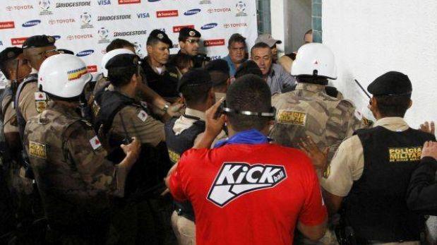 Presidente del Arsenal relató el pánico que vivieron ante la policía brasileña