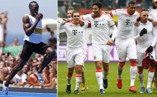 El hombre más rápido del mundo saludó al Bayern, el campeón más rápido de Alemania