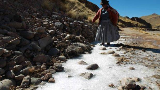 Zonas altas de Puno soportarán heladas entre el martes y el viernes