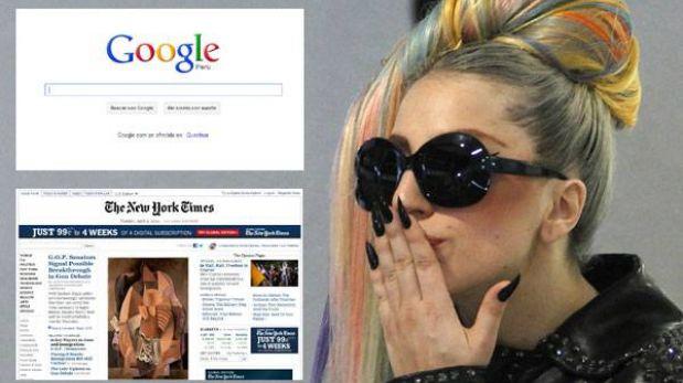 """Google, New York Times y Lady Gaga luchan por los """"Óscar de Internet"""""""