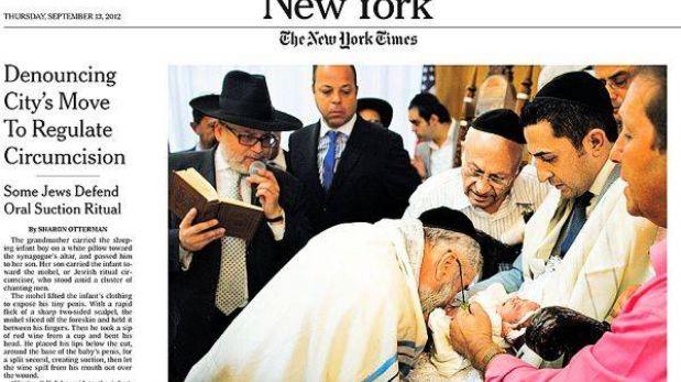 Por qué prohibir el ritual judío ultraortodoxo de succionar el pene a los bebes