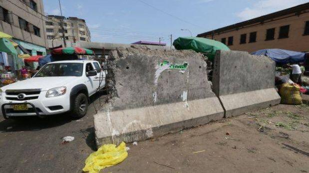 Municipalidad de Lima pidió más tiempo para retirar bloques en La Parada