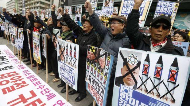 FOTOS: Protestas contra Kim Jong-un en Corea del Sur