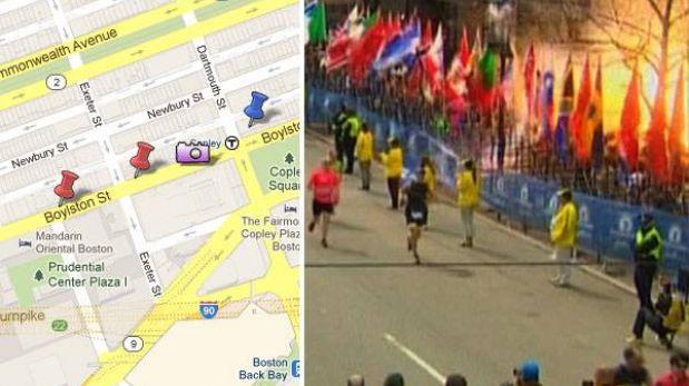 MAPA: Los lugares de Boston donde ocurrieron las explosiones