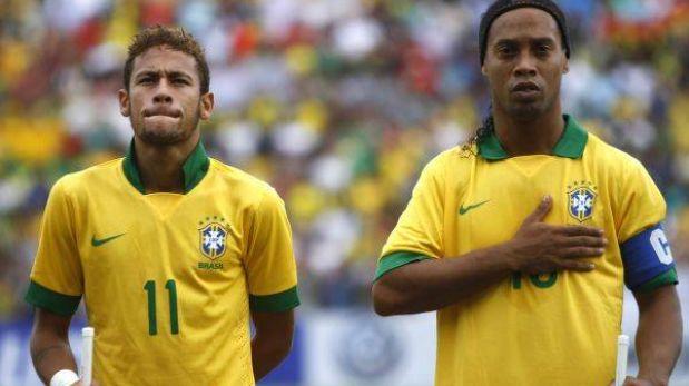 Scolari convocó a Neymar y Ronaldinho para el amistoso con Chile