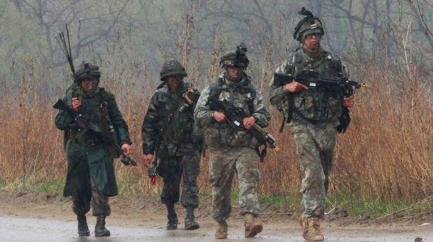 FOTOS: armada de EE.UU. realizó movimientos militares cerca de la frontera con Corea del Norte