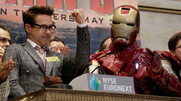 FOTOS: Iron Man visitó la bolsa de valores de Nueva York