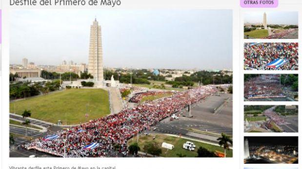 Cuba celebra el 1 de mayo con un homenaje a Hugo Chávez