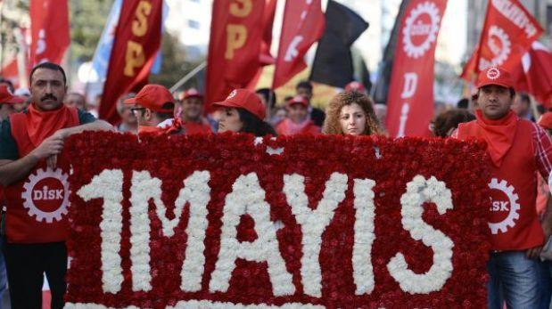 La marcha del 1 de mayo se transformó en una batalla campal en Estambul
