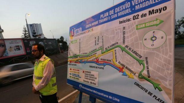 Hasta julio estará cerrada la bajada Sucre de Costa Verde: mira los desvíos