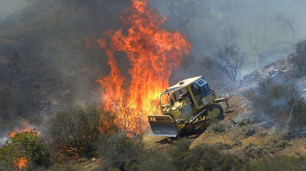 FOTOS: la gran evacuación en California ante incendio forestal