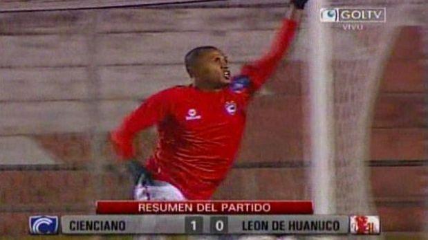 Cienciano derrotó 1-0 a León en el cierre de la fecha 13 de la Movistar