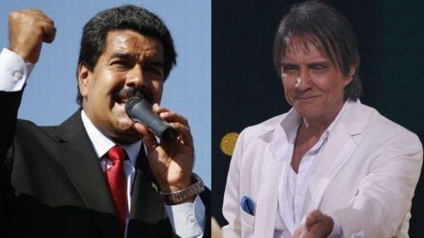Nicolás Maduro ahora se enfrenta al cantante brasileño Roberto Carlos