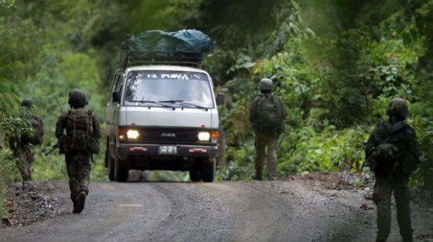 Balacera en el Vraem habría sido iniciada por presuntos terroristas en combi