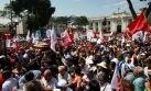 FOTOS: una multitud despidió a Javier Diez Canseco en la plaza Bolívar