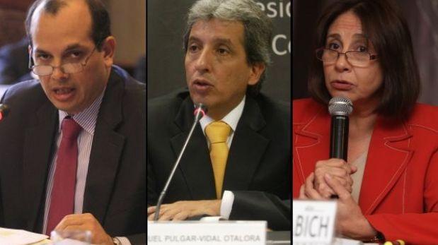 Castilla, Pulgar Vidal y De Habich acuden hoy a comisiones del Congreso