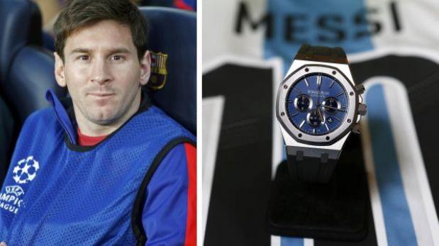Messi vendió este reloj en US$85 mil en beneficio de un hospital infantil