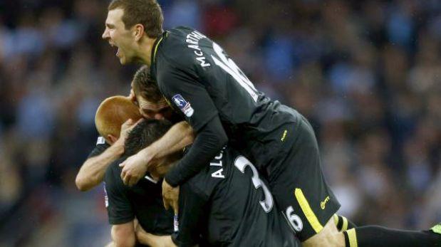 Copa FA: Wigan se coronó campeón tras ganar a Manchester City a los 90'
